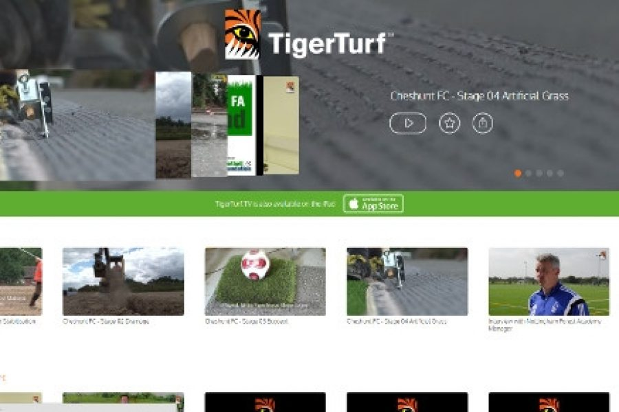 TigerTurf launches a new video channel at TigerTurf tv - ESTC - EMEA